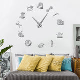 Sewing Tools Frameless DIY Wall Clock