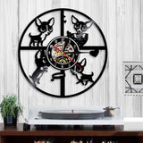 Chihuahua Vinyl Wall Clock with LED Light