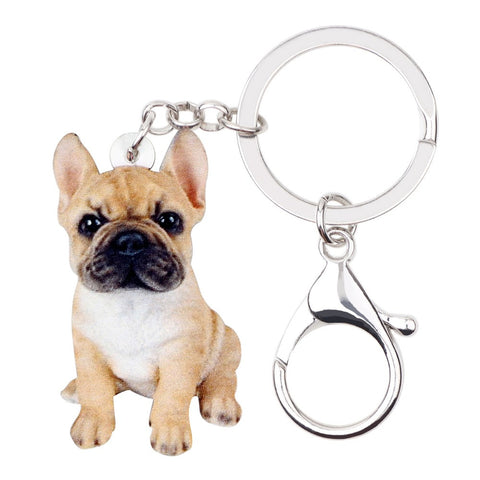 Cute French Bulldog Keychain