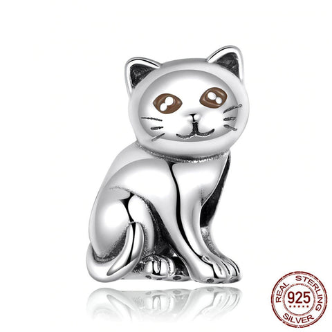Sterling Silver Cute Baby Cat Charm