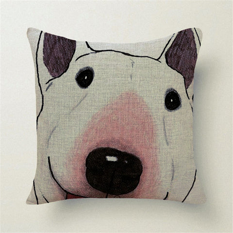 Beautiful Bull terrier Pillow Cover