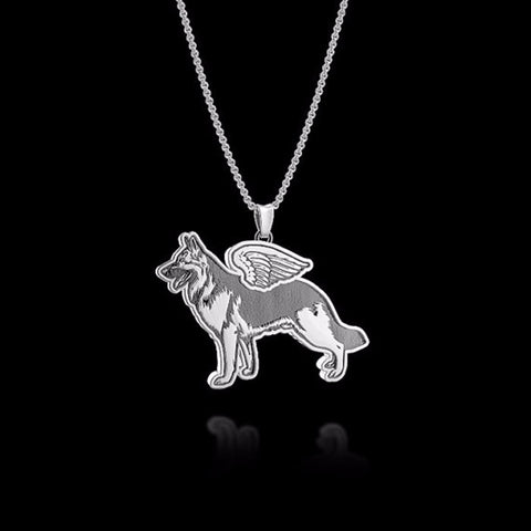 Pendant Necklace German Shepherd Angel
