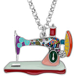 Beautiful Sewing Machine Necklace