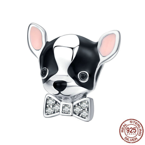 Sterling Silver Boston Terrier Charm