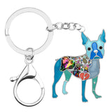 Beautiful Boston Terrier Keychain