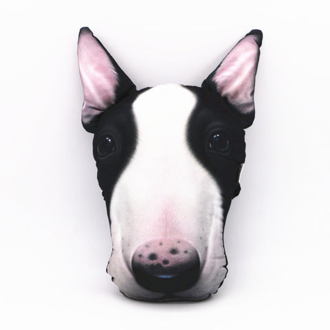 Cute Bull terrier Headrest