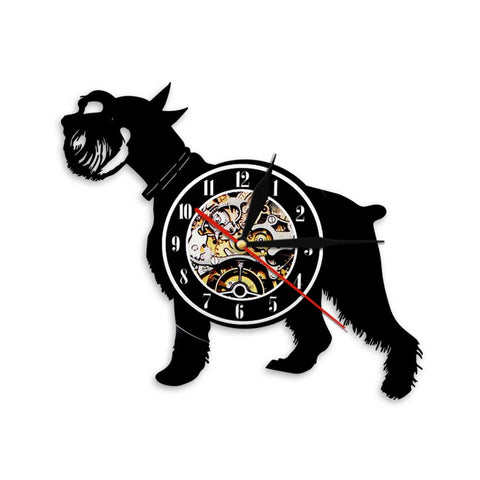 Awesome Schnauzer Wall Clock