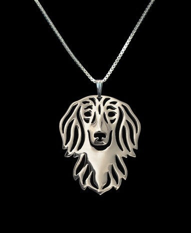 Dachshund necklace dog Silver/gold