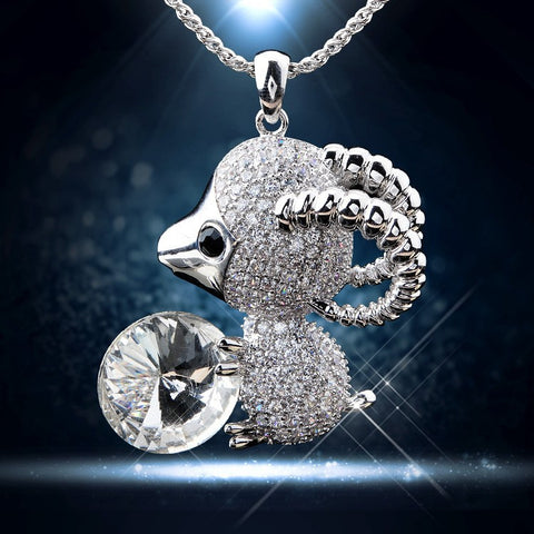 Gold crystal zircon goat pendant necklace + Freeshipping