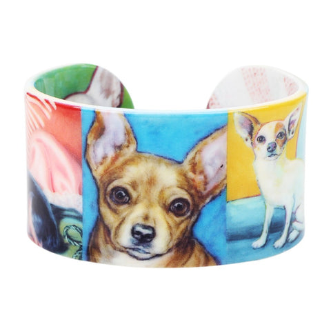 Lovely Chihuahua Bangle Bracelet