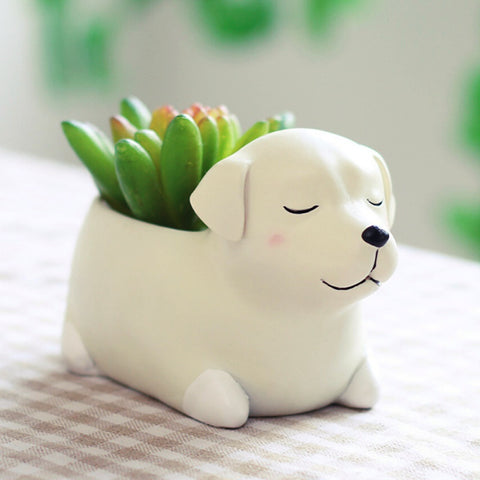 Cute Labrador Retriever Flowerpot