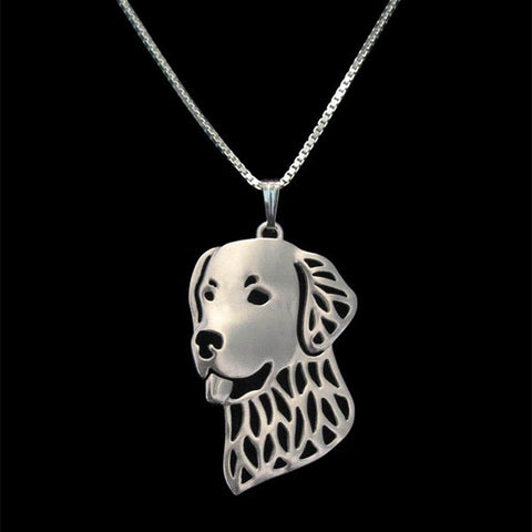 Adorable Golden Retriever face Necklace