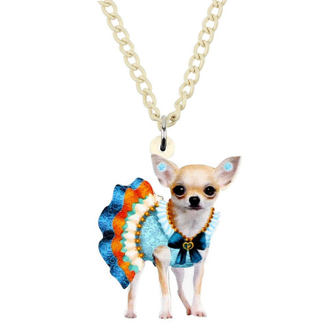 Adorable Chihuahua Pendant Necklace