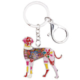 Cute Great dane Keychain