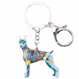 Cute Doberman Multicolor Keychain