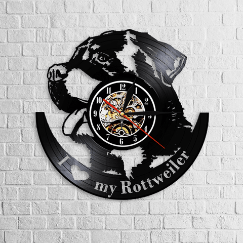 Beautiful Rottweiler Wall Clock