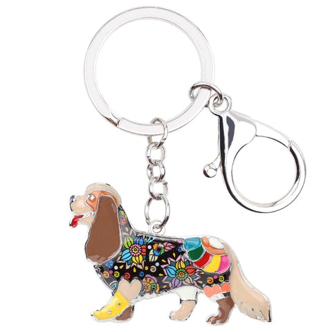 Beautiful Cavalier King Charles Spaniel Keychain
