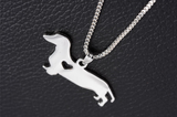 SALE Cute Dachshund Dog Pendant Necklace