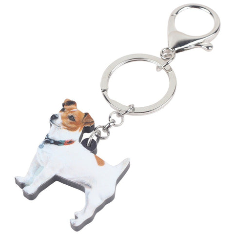 Keychain Silhouette Details about  /Jack Russell Terrier 1