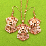 Beautiful Golden retriever Jewelry Set