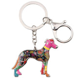 Beautiful Greyhound Keychain