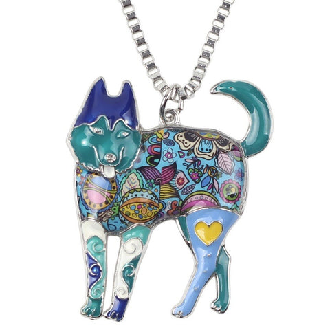 Cute Husky Multicolor Necklace