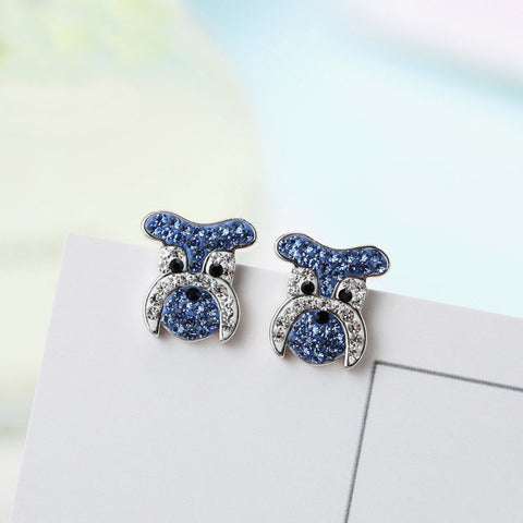 Cute Crystal Schnauzer Earrings