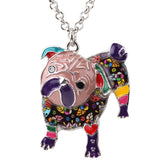 Adorable Multicolor Pug Necklace