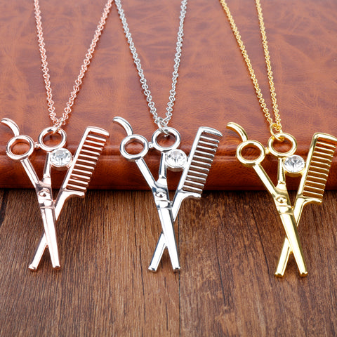 Beautiful Hairdressing Scissor necklace