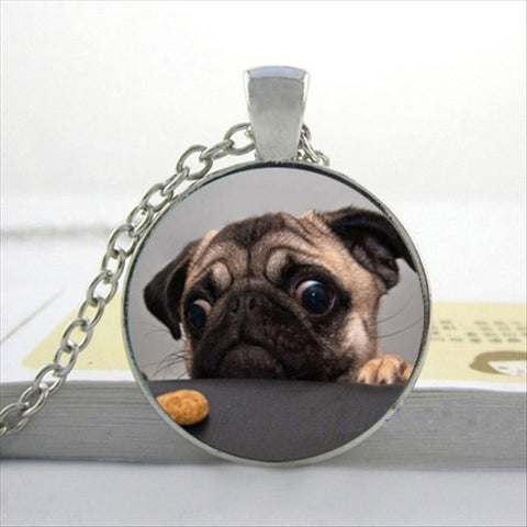Glass Art Pug Picture