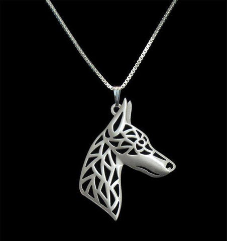 Adorable Doberman face Necklace