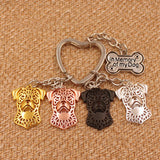 Adorable Rottweiler Key Ring Love