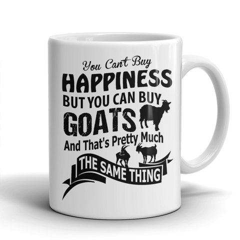 Cute Goat Happiness Mug