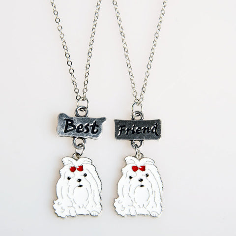 Cute Best friend Maltese Necklace