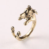 Cute Greyhound Ring