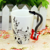 Cool Guitar Ceramic Cup with Unique Design Handle