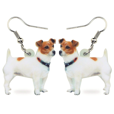 Beautiful Jack Russell Earrings