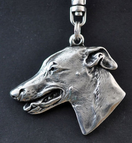 Cute Greyhound Key Chain