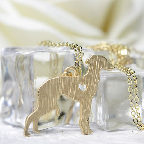 Italian Greyhound Necklace  (Gold & Silver Plated)