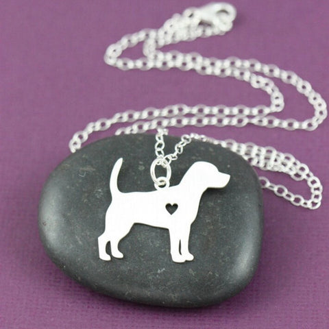 Memorial Heart Beagle Necklace