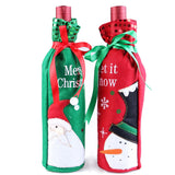 2 x Wine Bottle Covers Bag Christmas Gifts