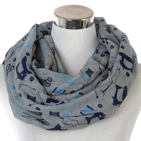 Cute Sewing Machine Design Scarf (Free shipping)