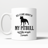 All i care about is my pitbull mug