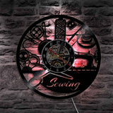 Cute Sewing Tools Wall Clock