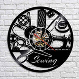 Amazing Sewing Tools Wall Clock