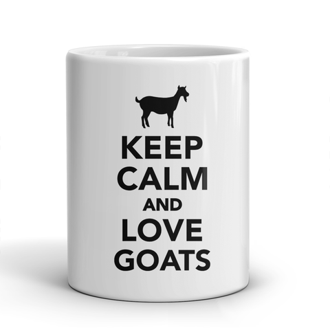 Keep Calm and Love Goats mug