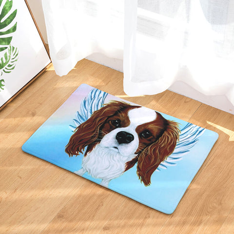Cavalier King Charles Spaniel Angel Floor Mat