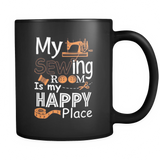 My Sewing room is my Happy Place mug