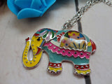 Cute Elephant Multicolor Necklace