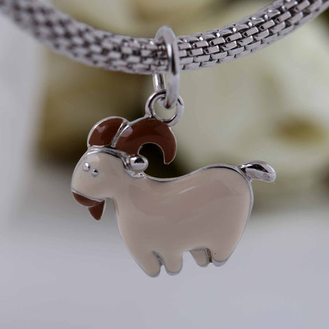 Sterling Silver Goat Pendant
